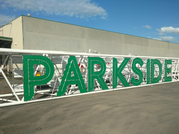 Parkside Tower Crane Sign