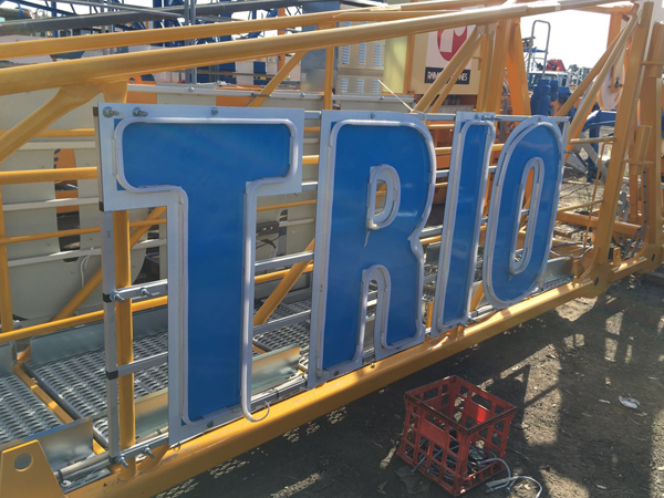 Trio 1 Tower Crane Sign