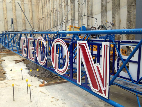 Becon Tower Crane Sign