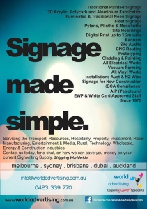 World Advertising | Signage made simple