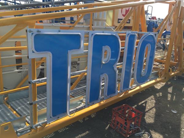 Trio 1 Tower Crane Sign
